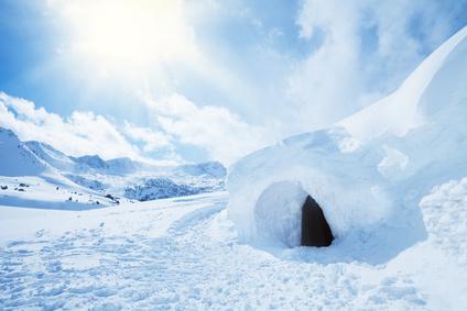 igloo and high snowdrift