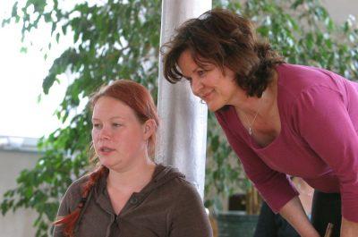 Janine und Martha im Gespräch